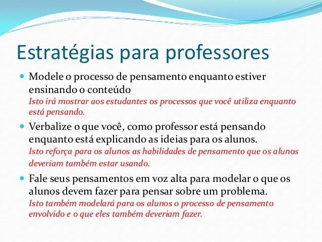 Como desenvolver habilidades metacognitivas em seus estudantes Slide 2