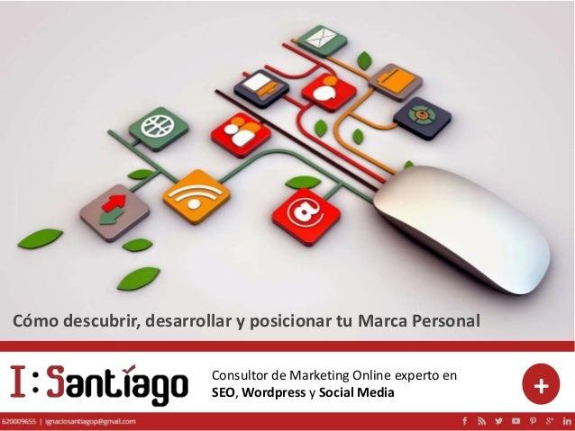 Consultor de Marketing Online experto en SEO, Wordpress y Social Media + Cómo descubrir, desarrollar y posicionar tu Marca...