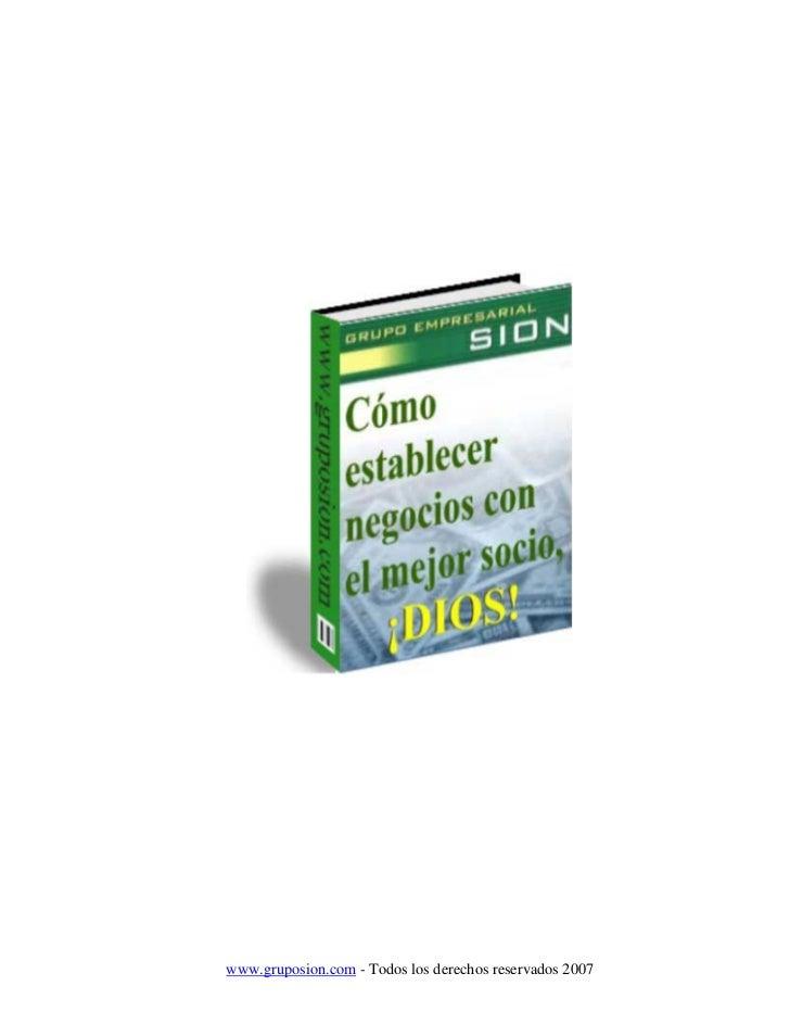 www.gruposion.com - Todos los derechos reservados 2007