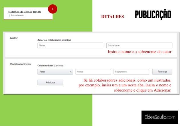 PUBLICAÇÃO Insira o nome e o sobrenome do autor Se há colaboradores adicionais, como um ilustrador, por exemplo, insira um...
