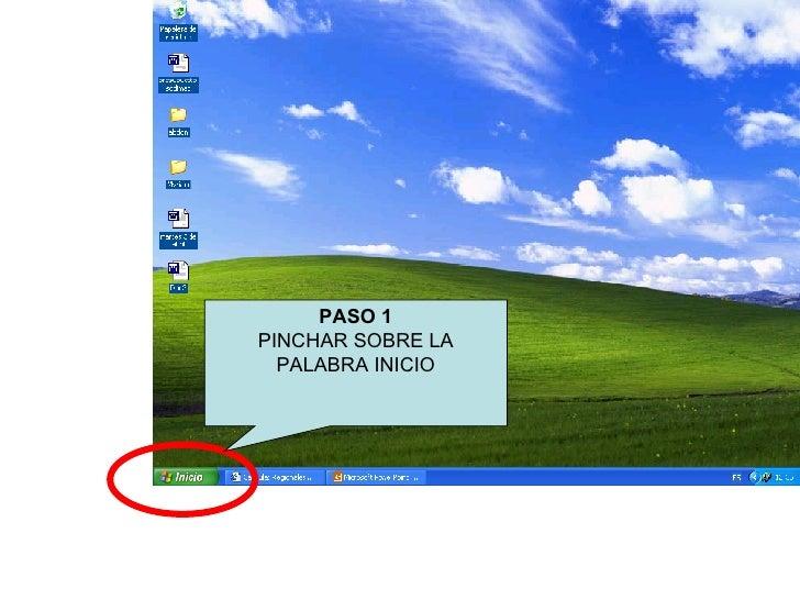 PASO 1 PINCHAR SOBRE LA PALABRA INICIO