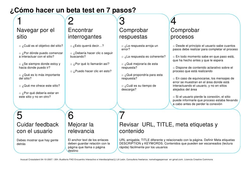 C mo hacer un beta test en 7 pasos - Como construir un altillo ...