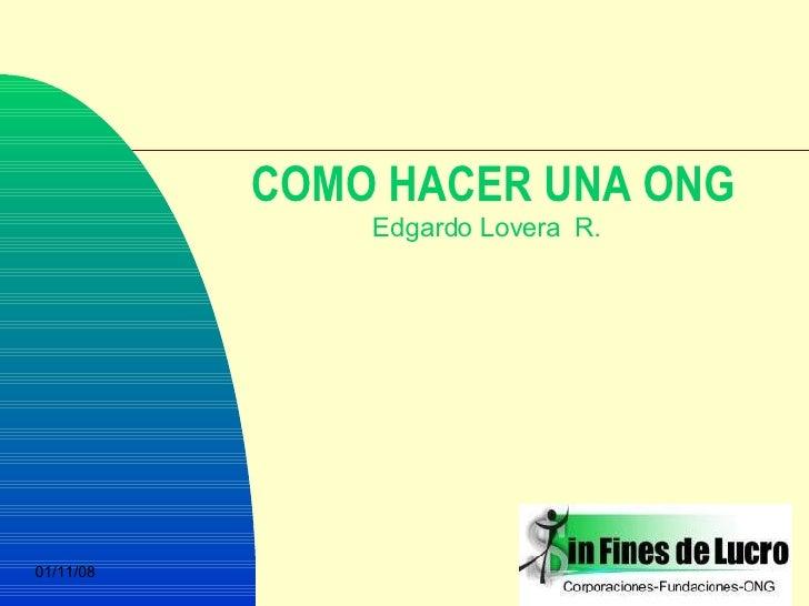 COMO HACER UNA ONG Edgardo Lovera  R.