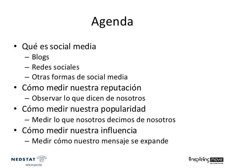 Como medir nuestra presencia en medios sociales Slide 2