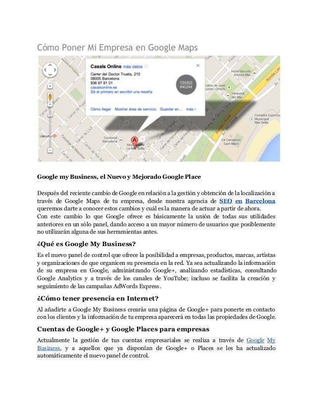 Como Poner Mi Negocio En Google Maps Marketing Online