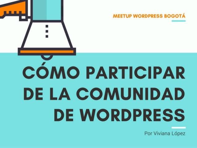 Cómo participar de la comunidad de WordPress