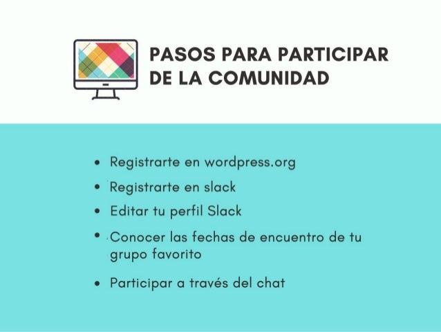 Cómo participar de la comunidad de WordPress Slide 3