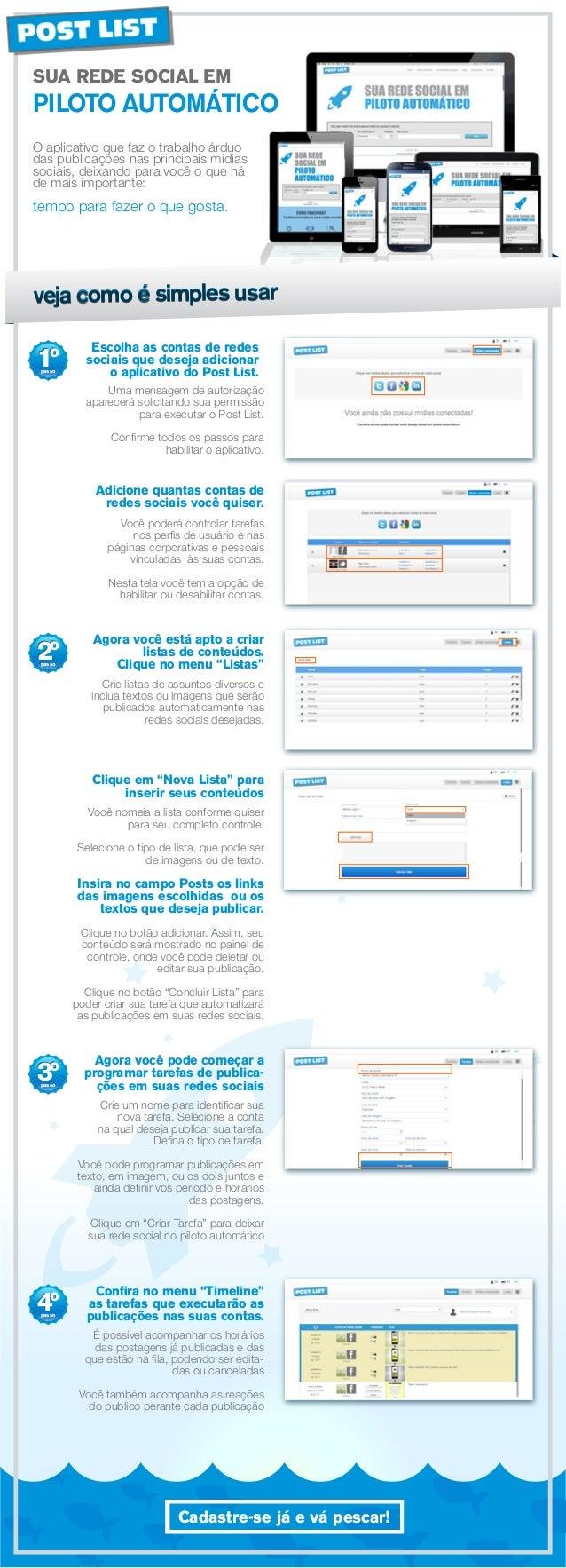 SUA REDE SOCIAL EM  PILOTO AUTOMÁTICO O aplicativo que faz o trabalho árduo das publicações nas principais mídias sociais,...