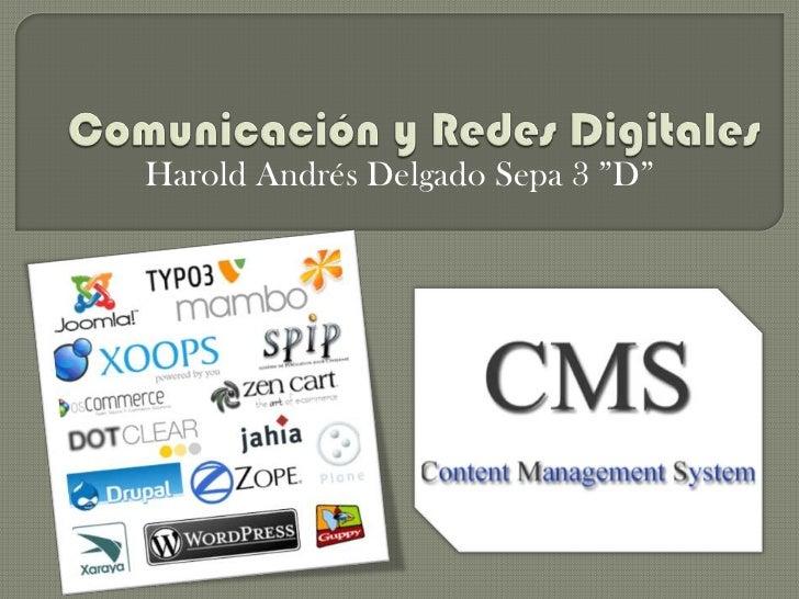 """Harold Andrés Delgado Sepa 3 """"D"""""""