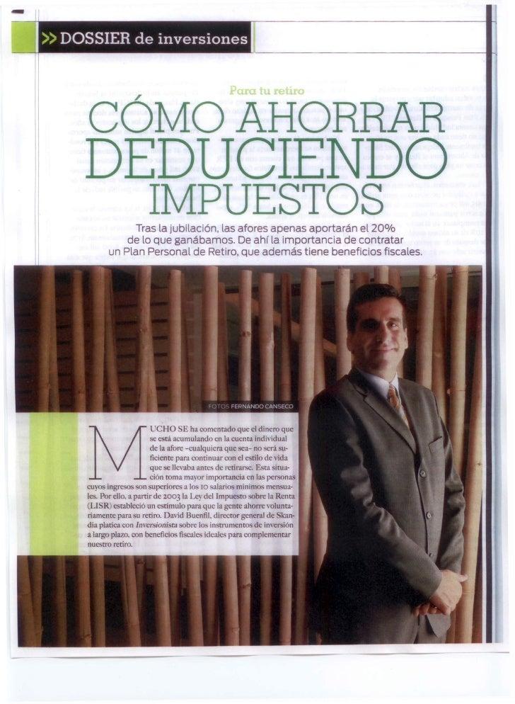 111»   DOSSIER de inversiones        CÓMO AHORRAR        DEDUCIENDO                            IMPUESTOS                  ...
