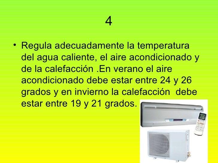 Como ahorrar energia - Temperatura calefaccion invierno ...