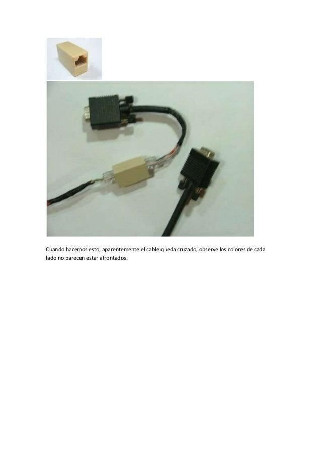 Como alargar el cable vga del monitor - Como camuflar cables ...