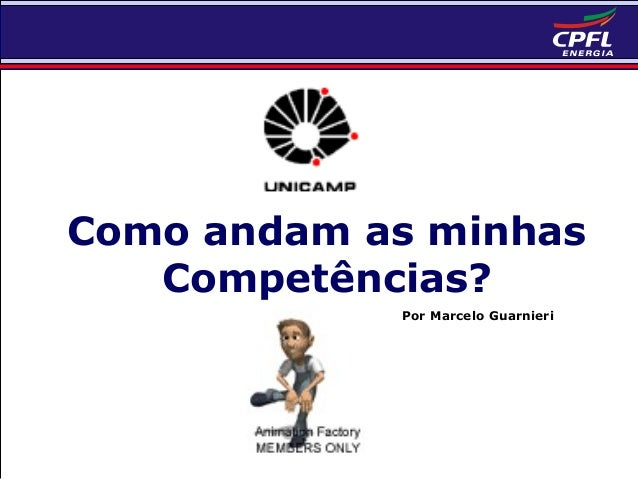 Como andam as minhas Competências? Por Marcelo Guarnieri