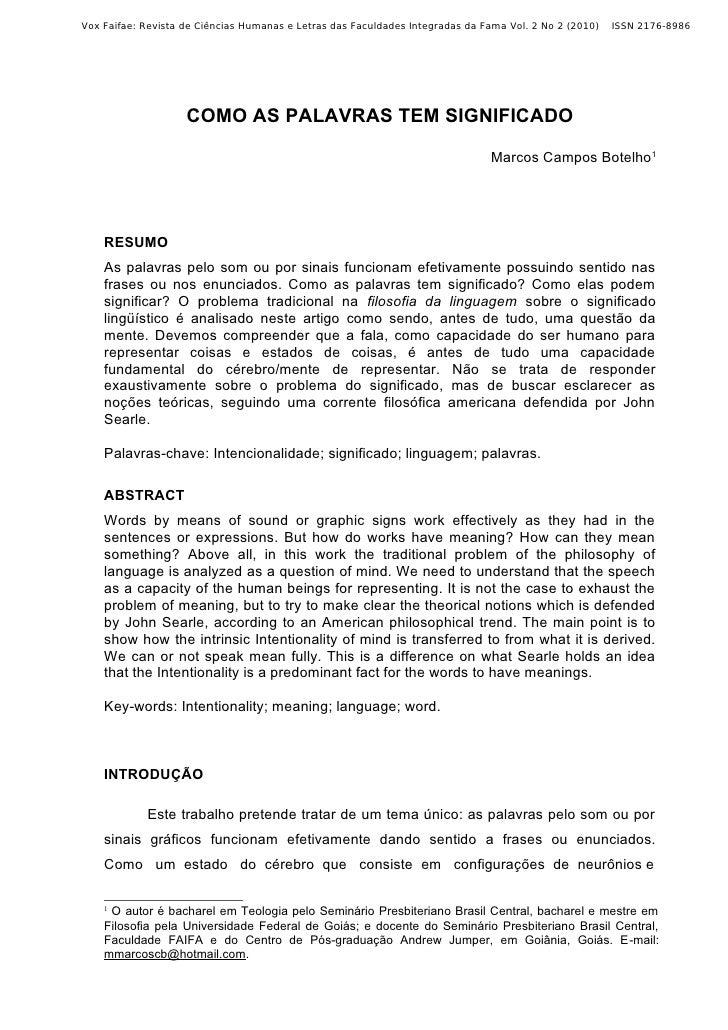 Vox Faifae: Revista de Ciências Humanas e Letras das Faculdades Integradas da Fama Vol. 2 No 2 (2010)   ISSN 2176-8986    ...