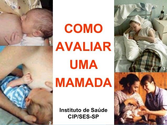 COMO    AVALIAR1      UMA                3    MAMADA    Instituto de Saúde       CIP/SES-SP2                        4