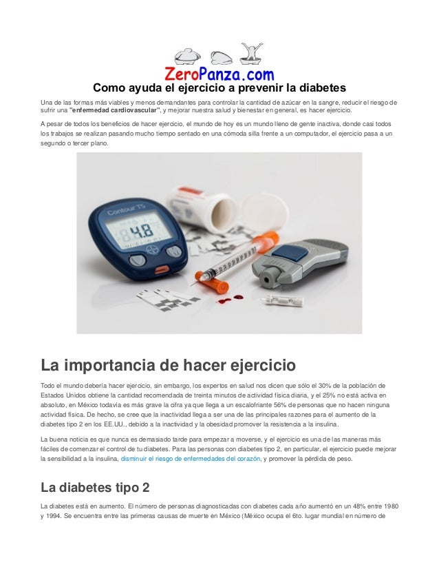 Como ayuda el ejercicio a prevenir la diabetes