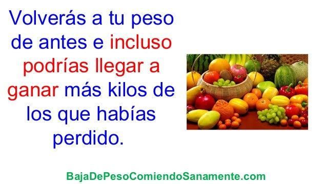 Falta frutas que hay que evitar para bajar de peso horas ests trabajo