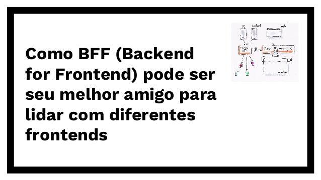 Como BFF (Backend for Frontend) pode ser seu melhor amigo para lidar com diferentes frontends