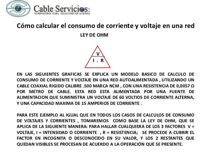 Cómo calcular el consumo de corriente y voltaje en una red                           LEY DE OHM                           ...