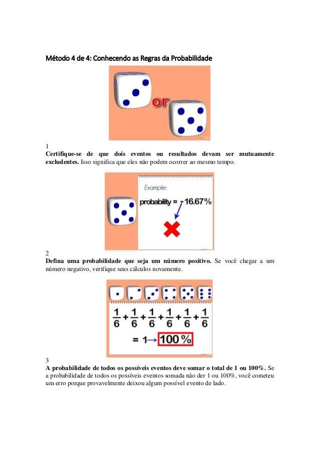 Como calcular a probabilidade