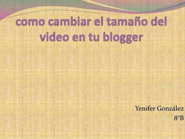 Yenifer González8°B