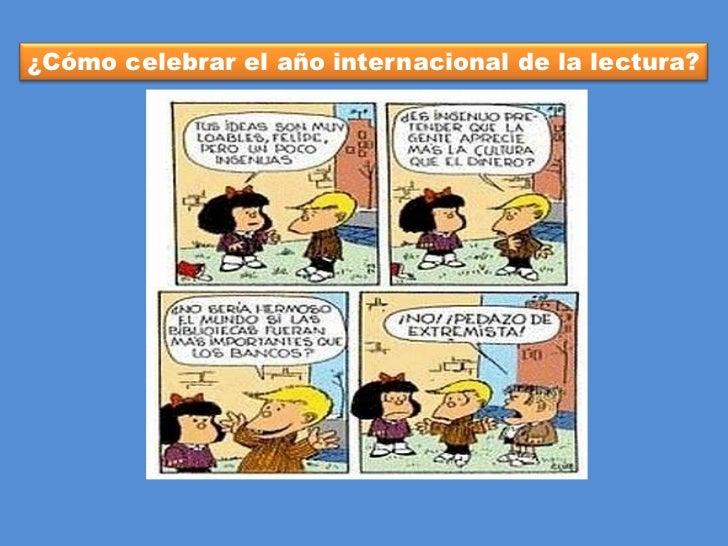 ¿Cómo celebrar el año internacional de la lectura?