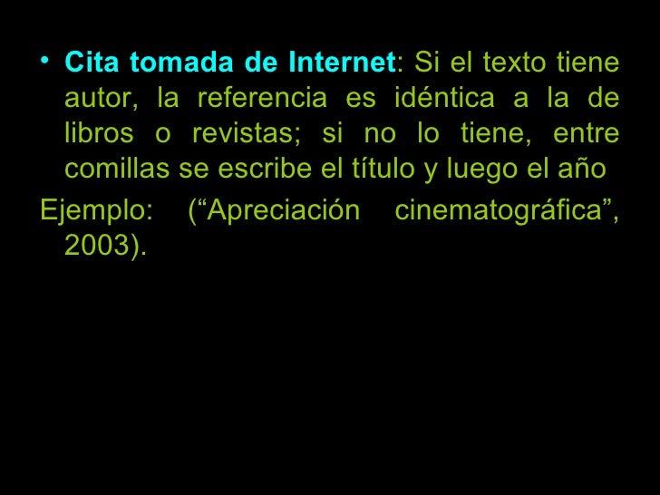 Citas textuales tomadas de internet
