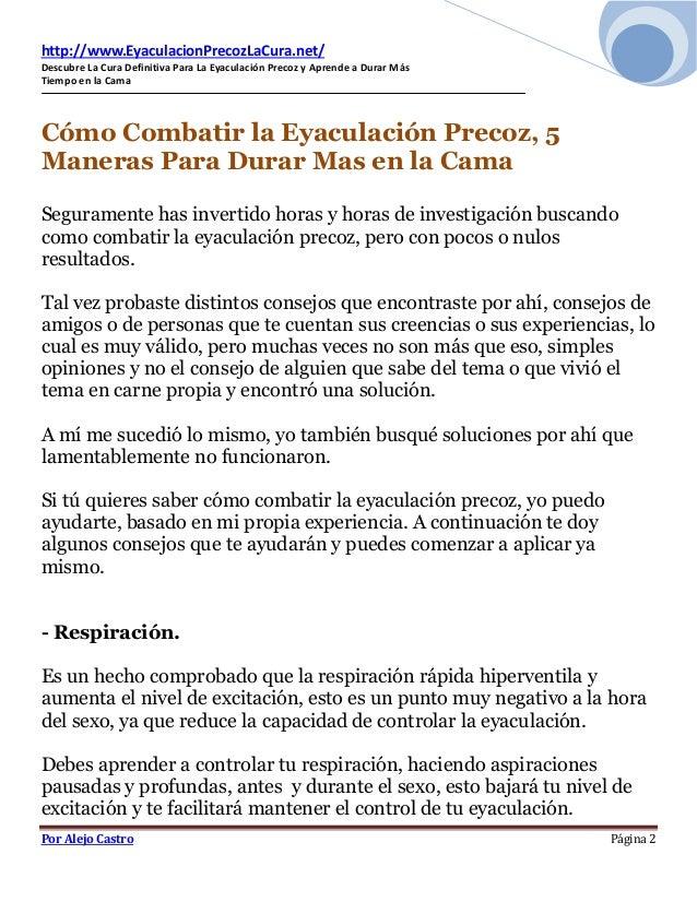 Como combatir la eyaculacion precoz - Como combatir la condensacion ...