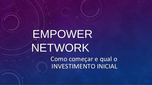 EMPOWER  NETWORK  Como começar e qual o  INVESTIMENTO INICIAL