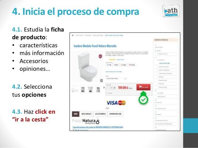 4. Inicia el proceso de compra 4.1. Estudia la ficha de producto: • características • más información • Accesorios • opini...