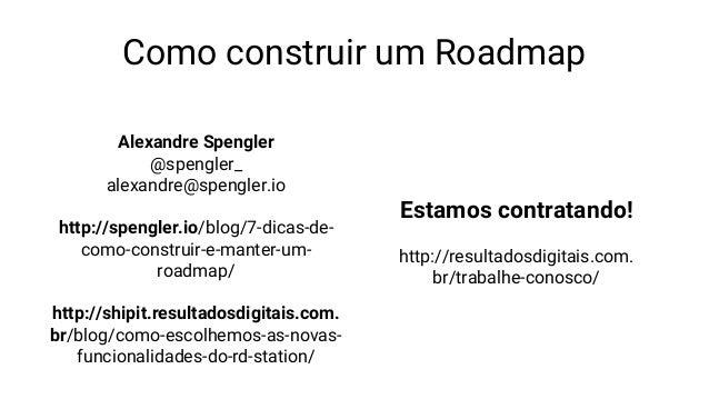 Como construir um roadmap