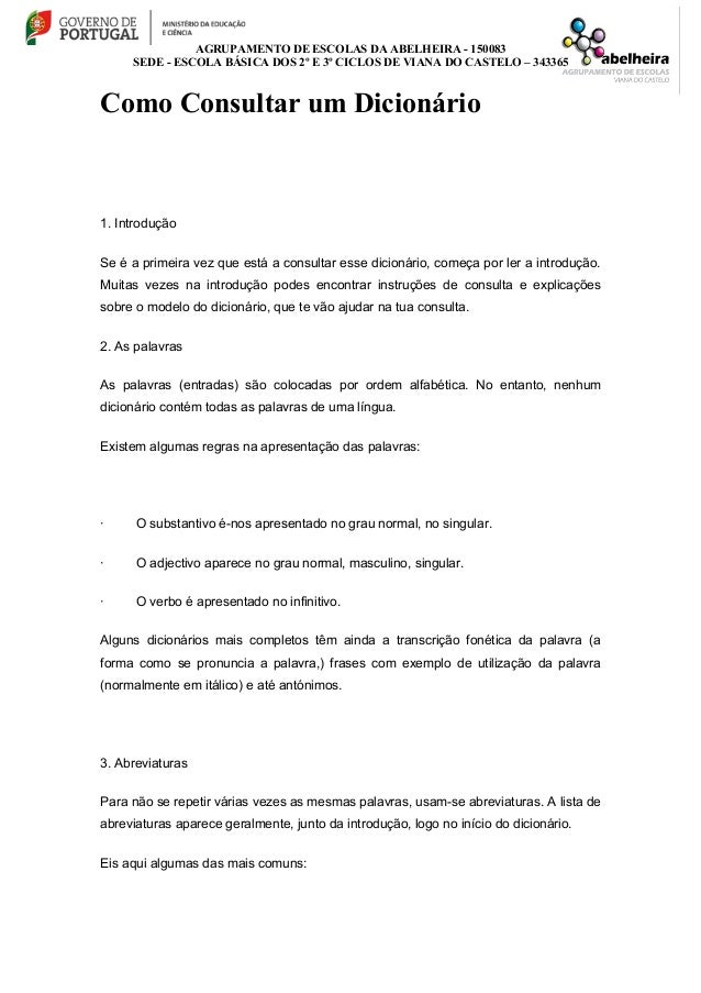 AGRUPAMENTO DE ESCOLAS DA ABELHEIRA - 150083 SEDE - ESCOLA BÁSICA DOS 2º E 3º CICLOS DE VIANA DO CASTELO – 343365 Como Con...