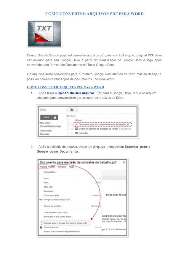 Convers o do arquivo de CBR para PDF - informa es fundamentais