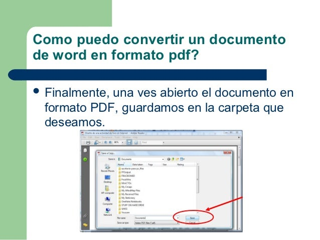 convertir un document en pdf en word