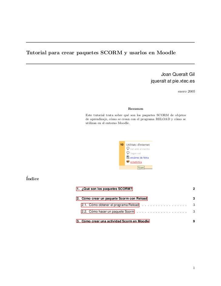 Tutorial para crear paquetes SCORM y usarlos en Moodle                                                                    ...