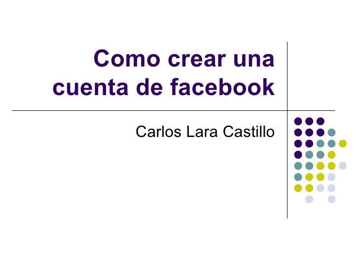 Como crear una cuenta de facebook - Como hacer una mosquitera ...