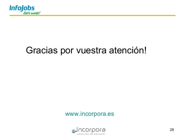 28 Gracias por vuestra atención! www.incorpora.es