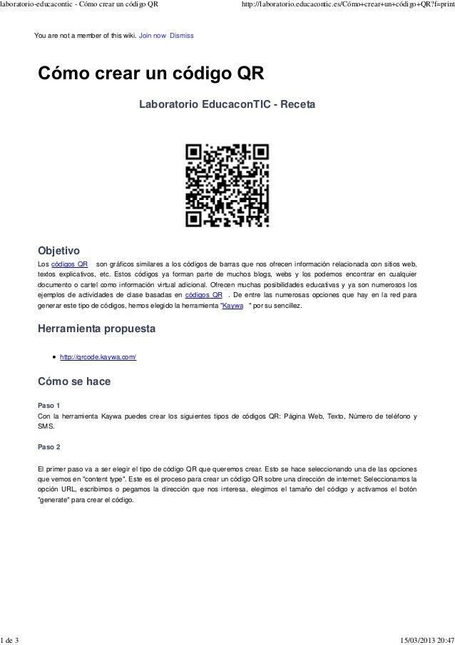 laboratorio-educacontic - Cómo crear un código QR                           http://laboratorio.educacontic.es/Cómo+crear+u...