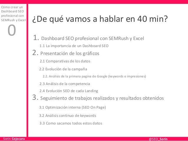Cómo Crear un Dashboard SEO Profesional con SEMrush y Excel Slide 2