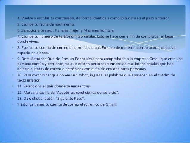 Como crear y usar un correo g mail for Correo la 14