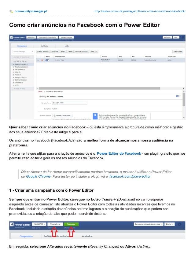 communitymanager.pt http://www.communitymanager.pt/como-criar-anuncios-no-facebook/ Como criar anúncios no Facebook com o ...