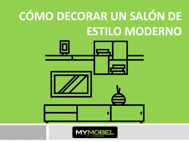 C mo decorar un sal n de estilo moderno for Como decorar un salon moderno