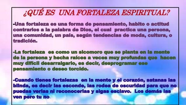 Como Derribar Fortalezas Espirituales