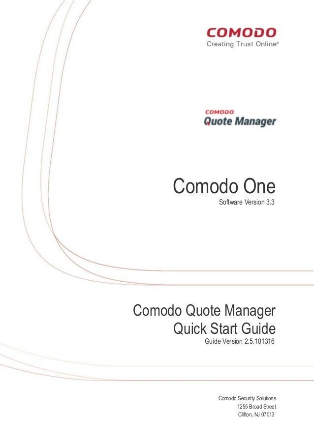 free quote manager comodo quote manager user guide rh slideshare net Online User Guide User Guide Icon