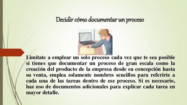 3. Decidir cómo documentar ...