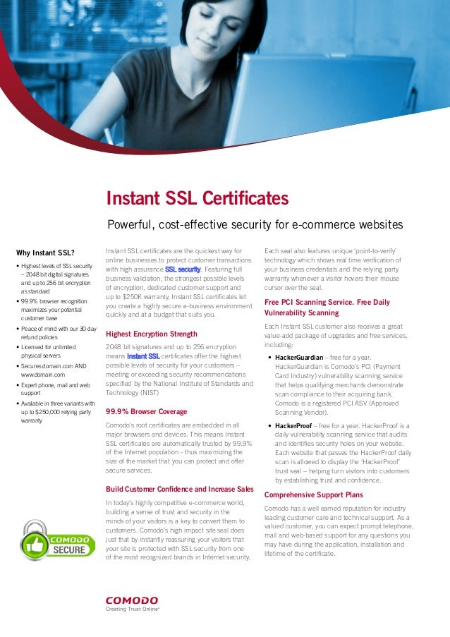 Comodo Ssl Certificate Highest Levels Of Ssl Security