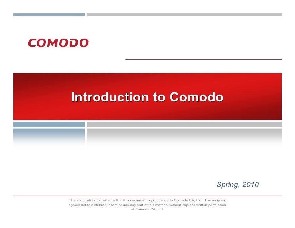 Introduction to Comodo                                                                                                 Spr...