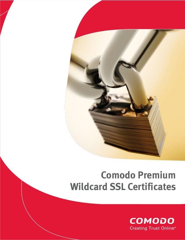 Comodo Premium Wildcard Ssl Explained