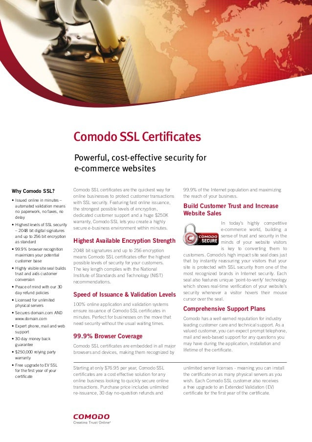 Specification Of Ssl Certificate