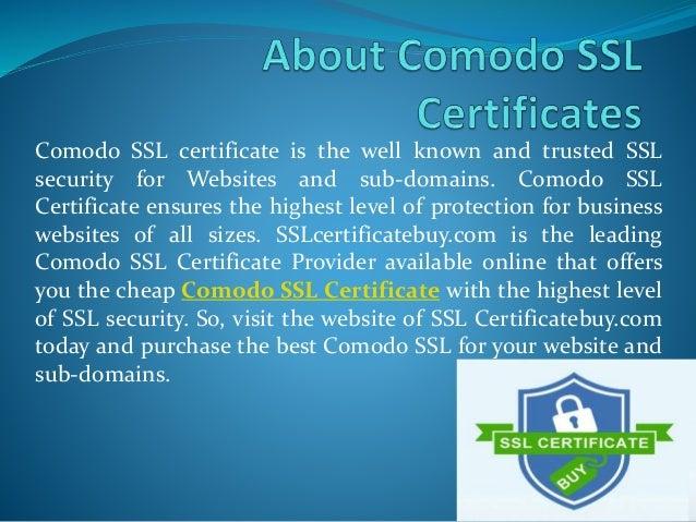 ssl zertifikat comodo